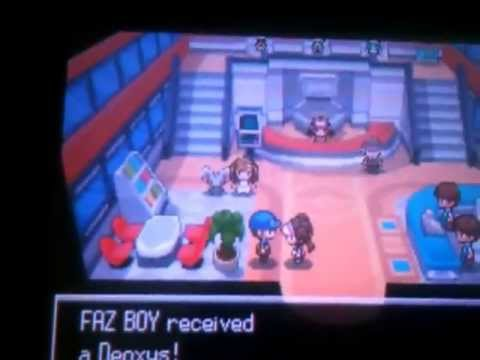 Pokemon black 2 how to get deoxys no cheat,hack or pokemon transfer