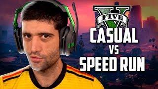 GTA V, jogador CASUAL X SPEEDRUN, um dos vídeos mais INCRÍVEIS do YOUTUBE