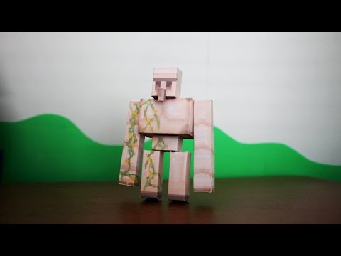 How to make a Minecraft Paper Iron Golem