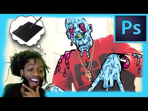 HOW TO MAKE A GRIME ON PHOTOSHOP!!!!! IT'S EASY!!! ART VLOG