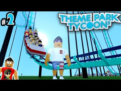 Theme Park Tycoon! Ep. 2: Making First RollerCoaster!! | Roblox
