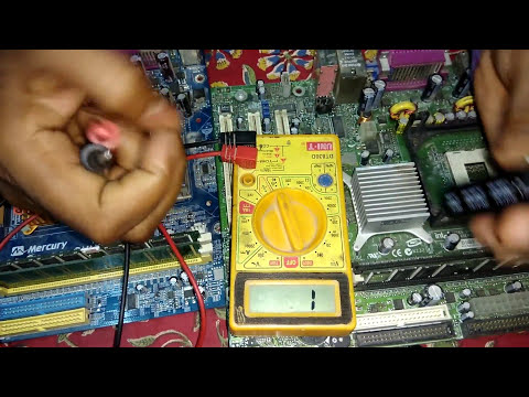 working and testing of capacitors