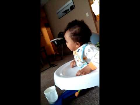 Infant thinks morning sickness is funny