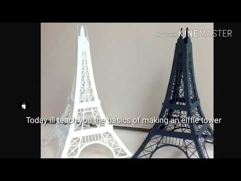How To Make A Eiffle Tower Out of Popsicle Sticks