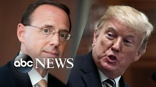 Deputy AG Rosenstein and Trump to meet Thursday