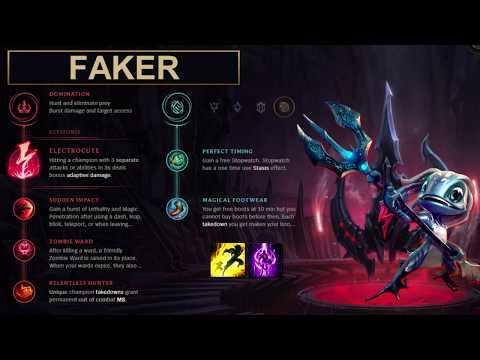 SKT Faker Build Fizz - New Runes Season 8 solo vs Renekton (League of Legends Guide)