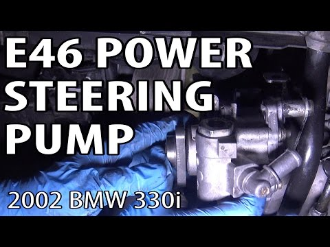BMW 330i 325i E46 Power Steering Pump Replacement