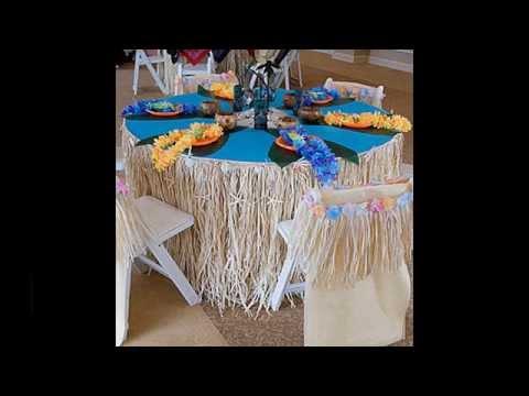 Simple Luau party decorations ideas