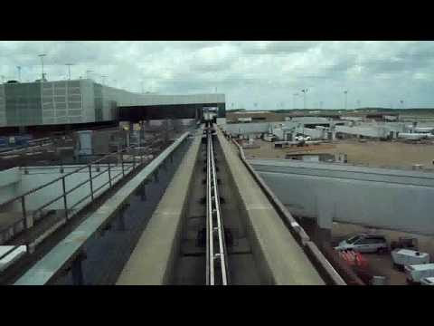 The AirTrain in the Houston Airport (Bush)
