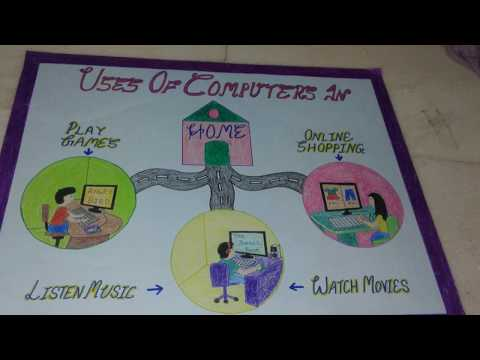 easy craft-chart for school project/school holiday home work *computer*
