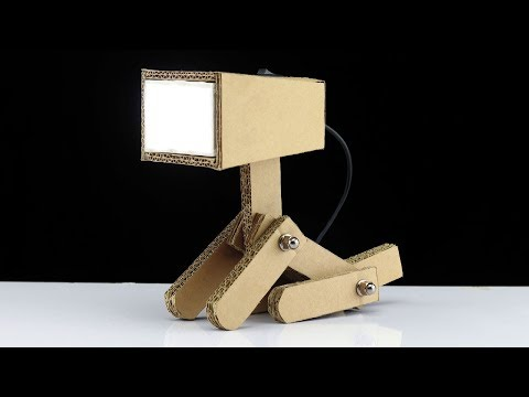 How To Make USB Powered Cardboard Study Table Lamp - Back to School Project