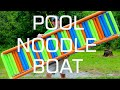 Pool Noodle Boat with PVC Pipe Frame