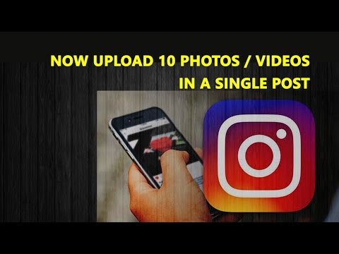 How To Upload 10 Photos Or Videos On Instagram In Hindi   Instagram New Features