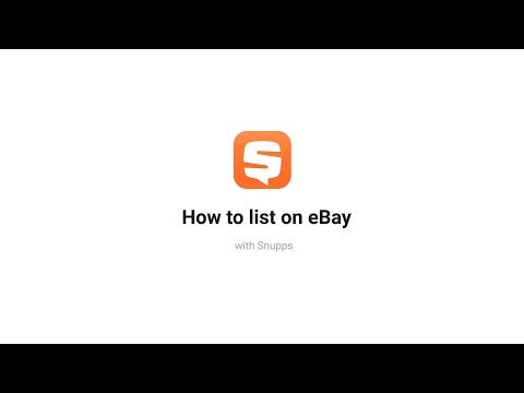 Introducing 'List on eBay'!