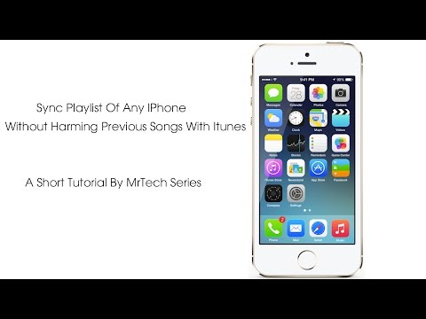 Sync Playlist Of IPhone 6 Plus, 6, 5S, 5c, 5, 4s, 4, 3Gs, 3G, 2g with Itunes