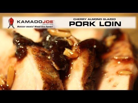 Smoked Pork Loin With Cherry Almond Glaze