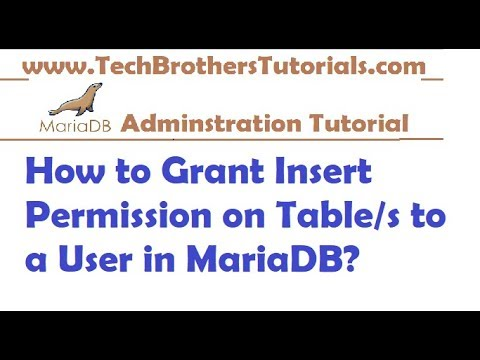 How to Grant Insert Permission on Tables to a User in MariaDB  - MariaDB Tutorial