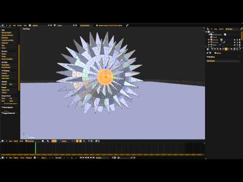 Blender Time Lapse Flail Weapon