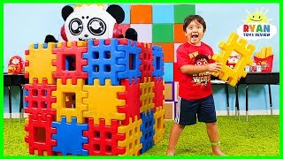 Download Ryan Pretend Play Building Toy Blocks Playhouse Video