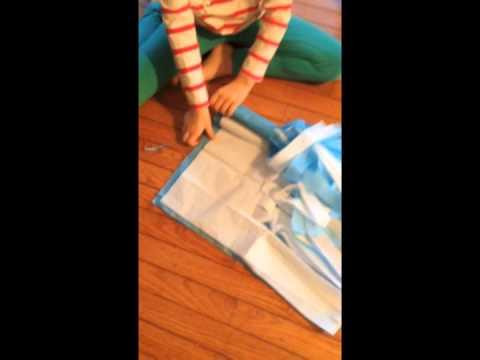 DIY Tissue Paper Cheerleading Pom Poms