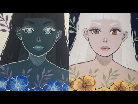 Inverted Colour Drawing Challenge ˚✧₊⁎