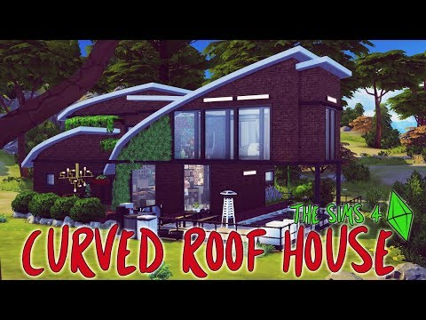 The Sims 4 House Build | Curved Roof House