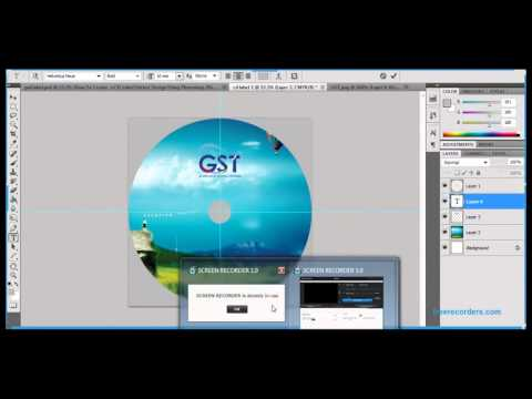 How to create a cd or dvd label or cover design  using photoshop