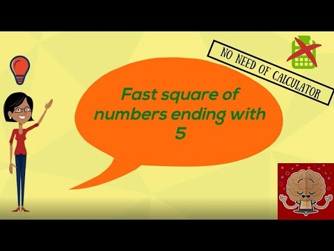 Fast Square of numbers ending with 5/ Grade 3 Maths/ Maths with cartoons