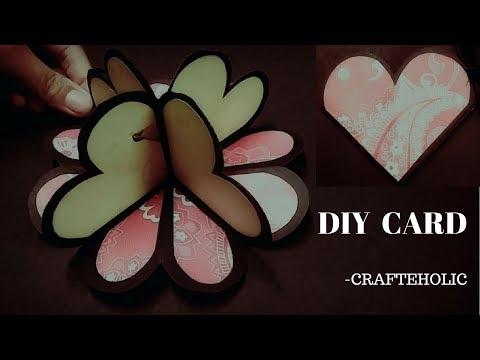 handmade birthday card | heart pop up card | diy birthday card | birthday card tutorial