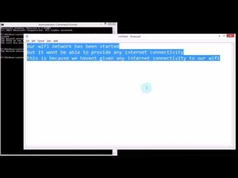 Create Wifi using Command Prompt (CMD)