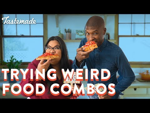 Trying Weird Food Combos | Good Times With Jen