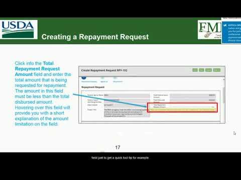 ezFedGrants Training: Creating Repayment Request