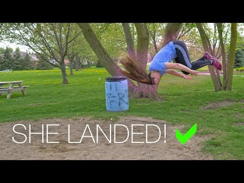 How Jaclyn Landed The Front Flip Her First Try (On Ground)