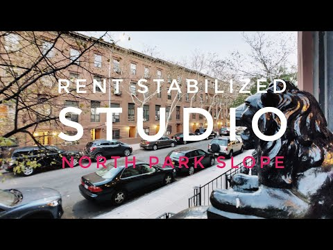 Rent Stabilized Studio Apartment on Parlor Floor in North Park Slope! Video Tour NYC