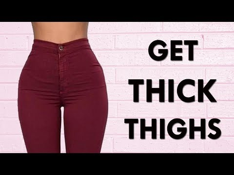 How To Get Thicker Thighs & Bigger Butt | 10 Minute Workout To Grow Leaner Thick Thighs!