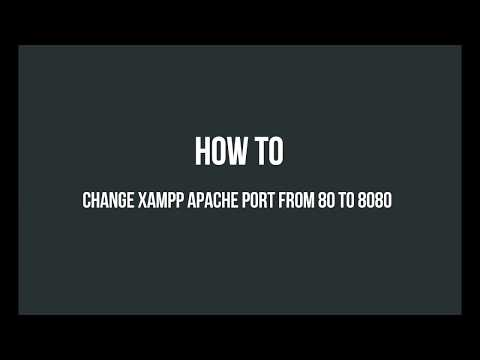 How to change XAMPP Apache localhost port from 80 to 8080