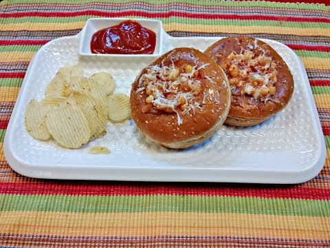 Quick Snack-How to make Baked Beans Burger