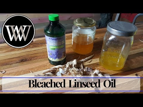 How to Make Bleached Linseed Oil I Hand Tool Woodworking Finish