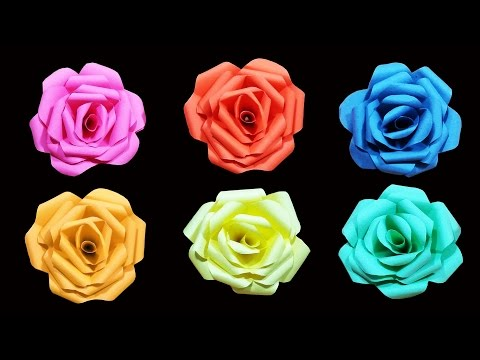 How to make a paper flower - Rose (very easy) - HD