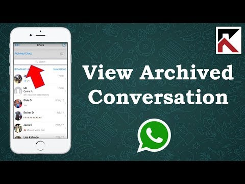 How To View Archived Conversations On WhatsApp iPhone