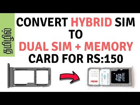 HOW | TO | CONVERT | HYBRID | SIM SLOT | TO USE | DUAL SIM + MEMORY CARD | EXTENSION |