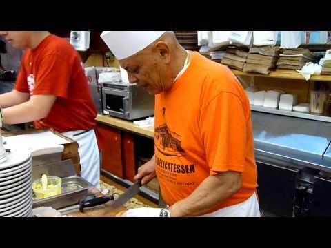 Pastrami Hero Preparation Video at Katz Deli in New York City