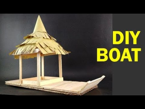 How to Make Boat - From Popsicle Sticks