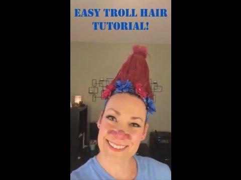 EASY & AFFORDABLE TROLL HAIR TUTORIAL