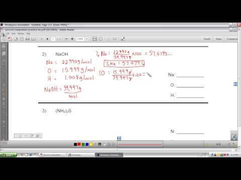 Intro to percent composition of compounds