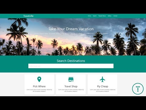 Build A Travel Agency Theme With Materialize CSS 1.0.0