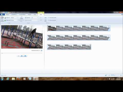 Windows Live Movie Maker - Use Slow Motion And Speed up Effect