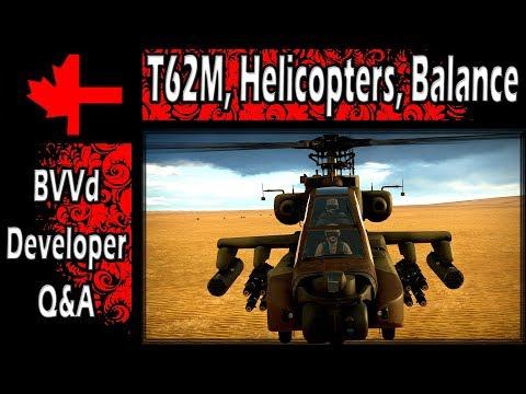 War Thunder - Developer BVVd Q&A Part 1 - T-62M, Helicopters, Balance