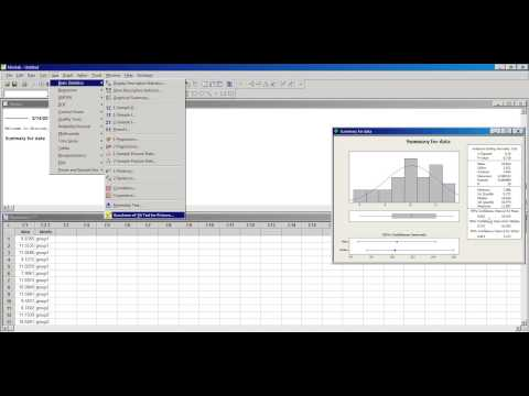 normality tests in minitab