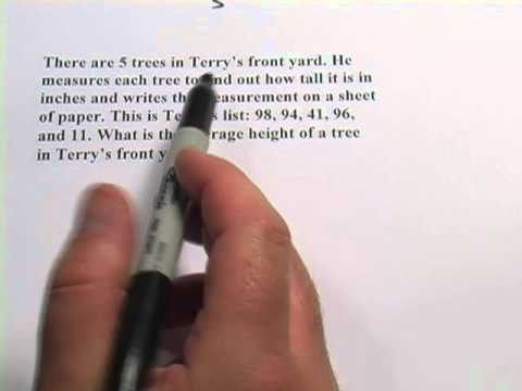 Word Problems: Finding Averages